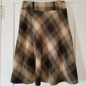 dressbarn Plaid Skirt - Size 6